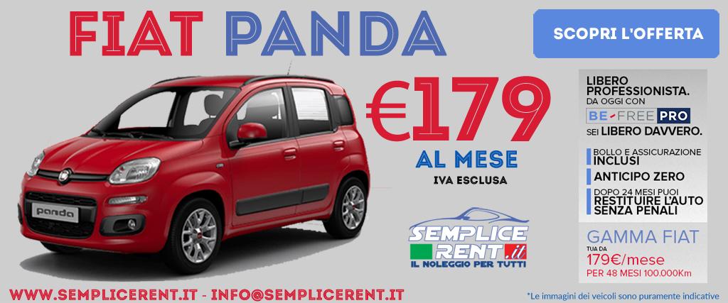 fiat panda be free pro offerta