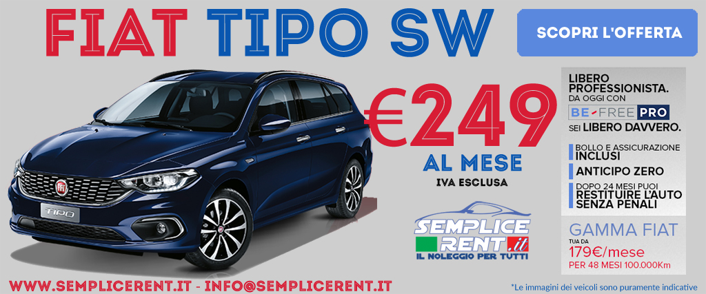 fiat tipo sw be free pro offerta
