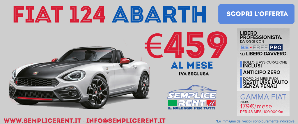 fiat 124 abarth be free pro