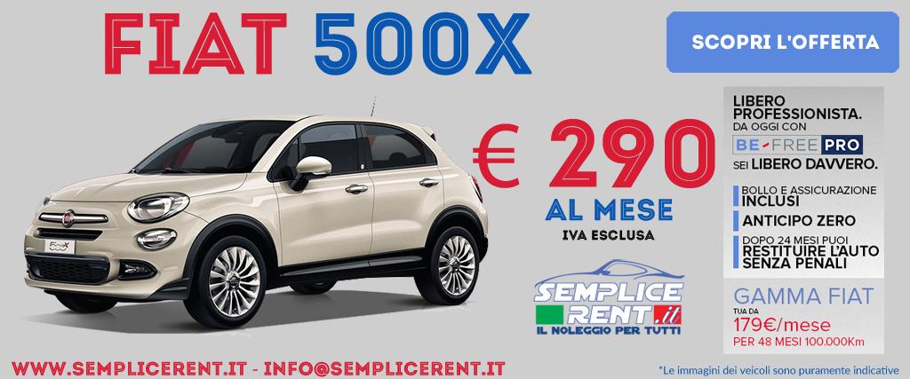 Fiat 500x be free pro
